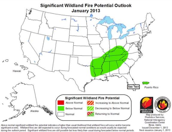 Wildfire outlook January