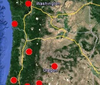 Rare winter fires in the Oregon Coast Range