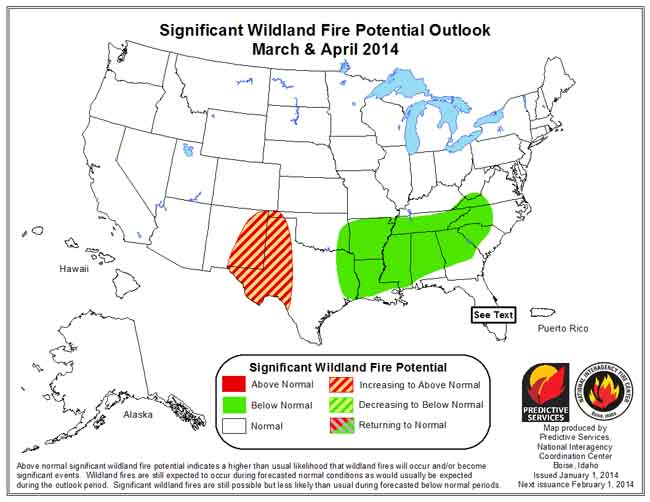 Wildfire Outlook, March-April 2014