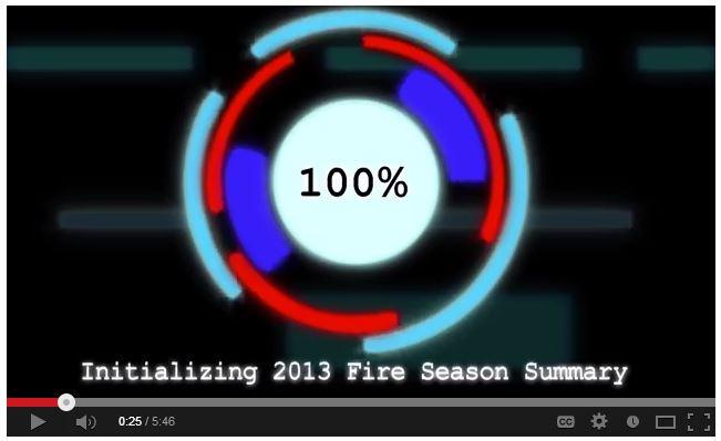 2013 fire season summary screen grab