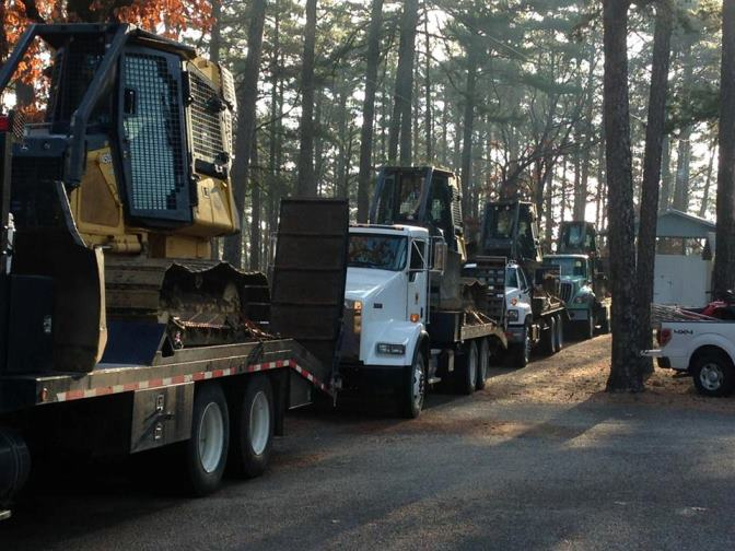 Dozers used for reopening roads.