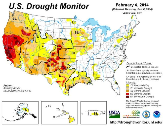 Drought Monitor 2-4-2014