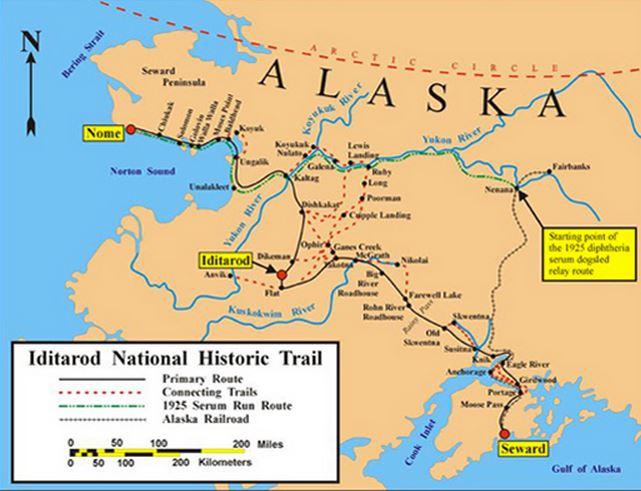 Iditarod map