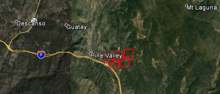 Brush fire burns 125 acres near Pine Valley, CA - Wildfire ...