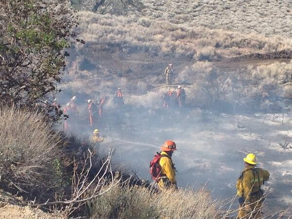 Pine Fire. Photo by LA Co FD.