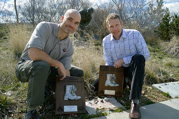 Chad Fisher and Jim Shultz,. NPS, received Paul Gleason award