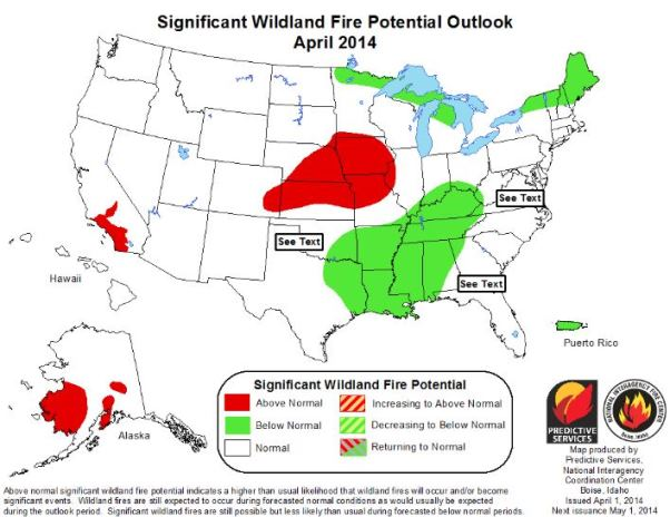 Wildfire Outlook, April, 2014