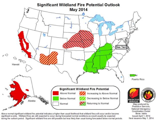 Wildfire Outlook, May, 2014