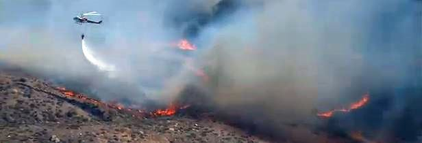Bernardo Fire, image from live cam, 347 pm PDT, May 13, 2014