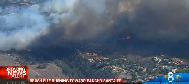 Bernardo Fire, image from live cam, 350 pm PDT, May 13, 2014