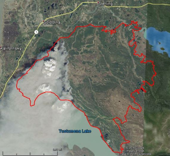 Funny River Fire, Landsat,