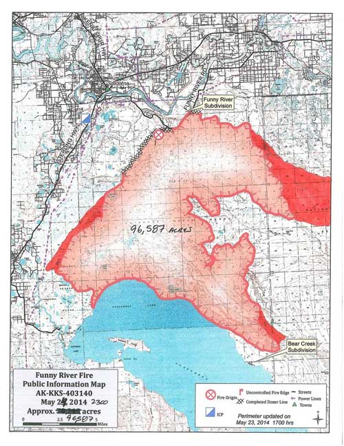 Alaska Funny River Fire becomes megafire  Wildfire Today