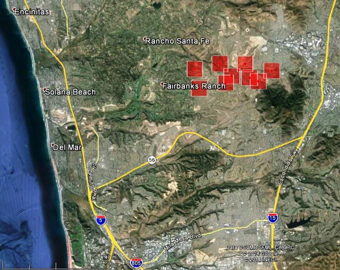 California: Bernardo Fire near Rancho Santa Fe   Wildfire Today