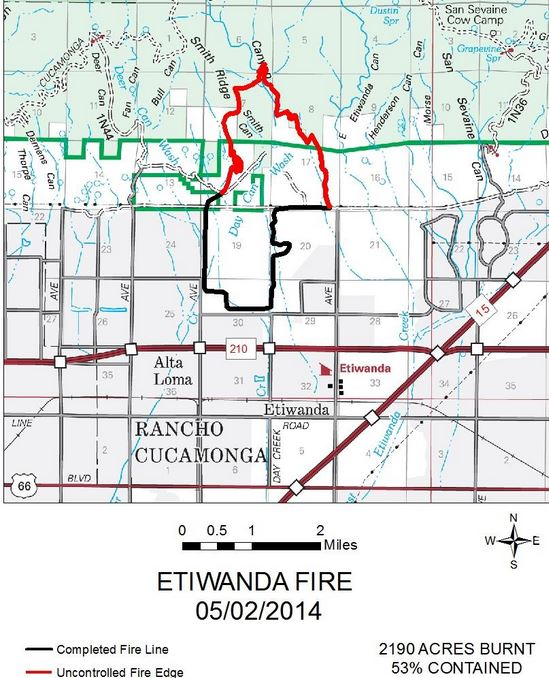 Map of Etiwanda Fire