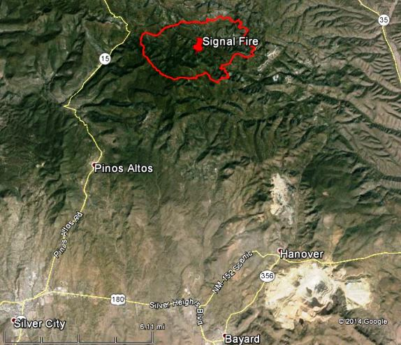New Mexico: Signal fire northeast of Silver City - Wildfire Today