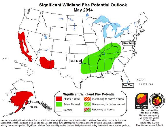 May 2014 wildfire outlook