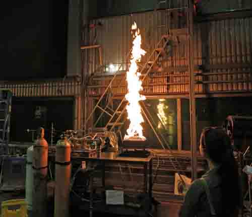 Test fire in lab