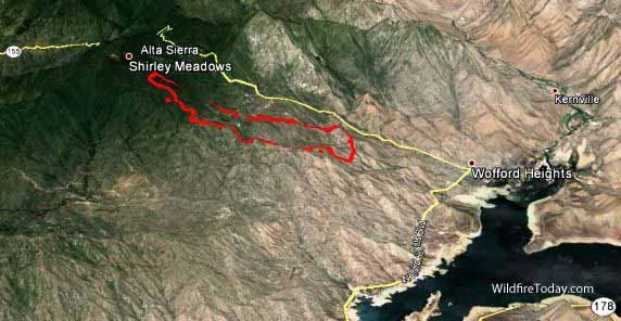 Lake Isabella Fire Map.Fire In Lake Isabella Map Www Imagessure Com