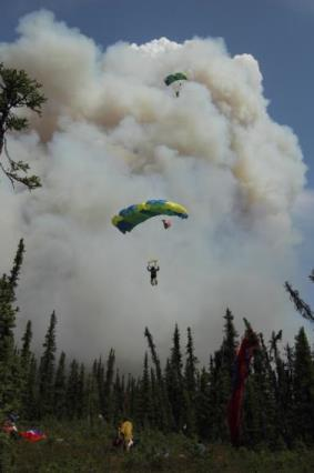 smokejumpers on the Hastings fire