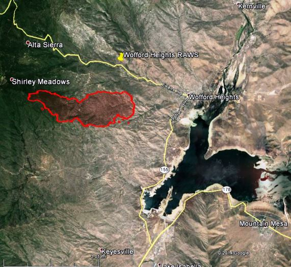 Lake Isabella Fire Map.Map Of Shirley Fire At 10 P M June 14 2014 Wildfire Today