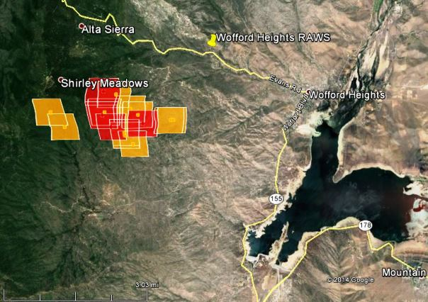 Map of Shirley Fire