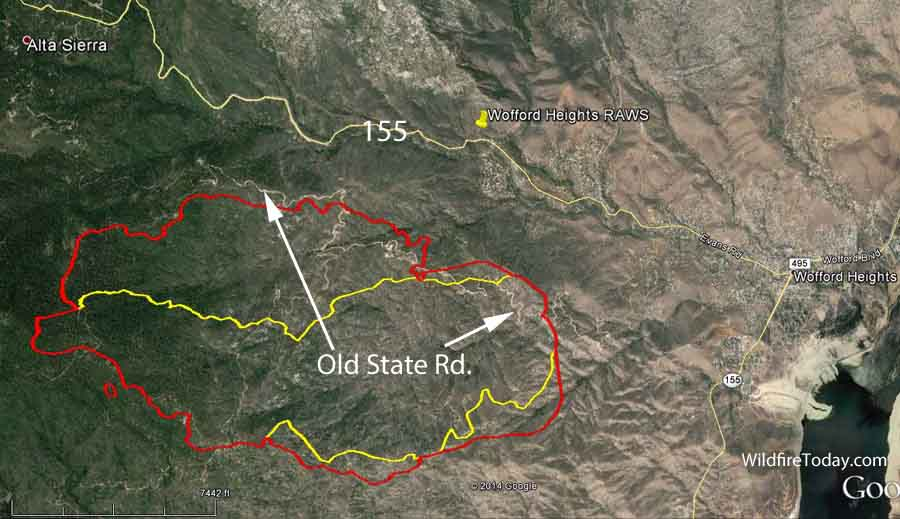 Lake Isabella Fire Map.Map Shirley Fire 930 Pm June 15 2014 Wildfire Today