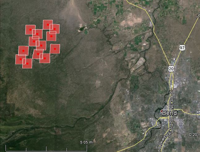 Map of Two Bulls Fire