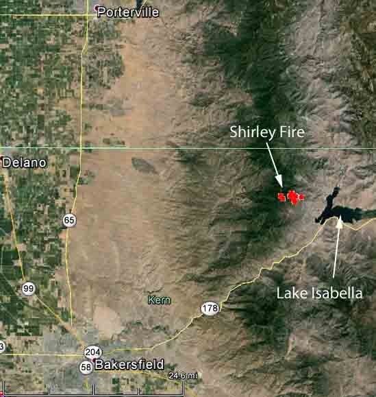 Lake Isabella Fire Map.Shirley Fire 435 Am Pt June 14 2014 Wildfire Today