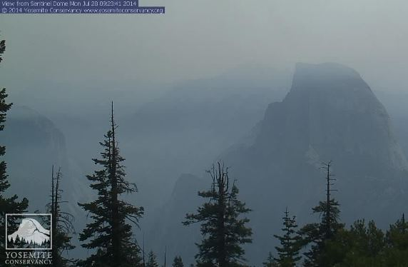 Half Dome at 9:23 a.m. PDT, July 28, 2014.