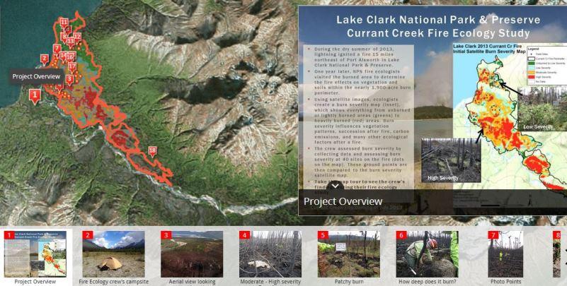 Lake Clark fire effects