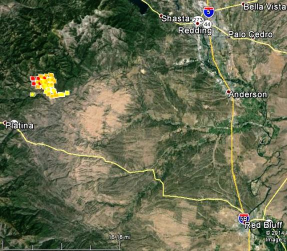 Map of Bully fire