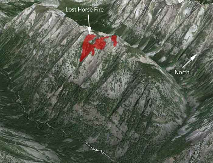 Map of Lost Horse Fire