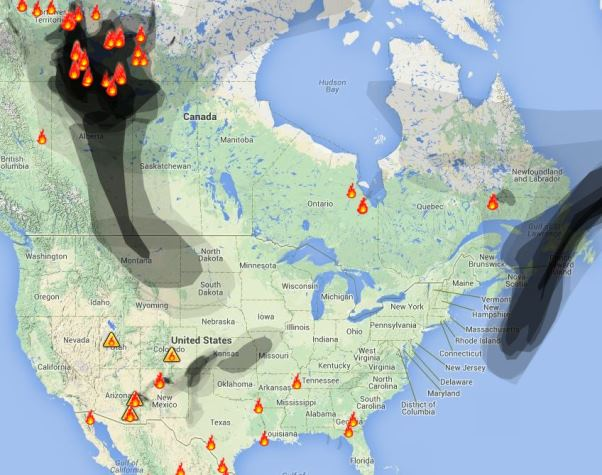 Wildfire Smoke, July 1, 2014