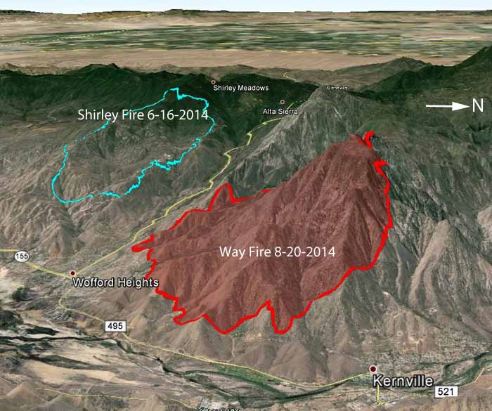 Lake Isabella Fire Map.California Way Fire Near Kernville Wildfire Today