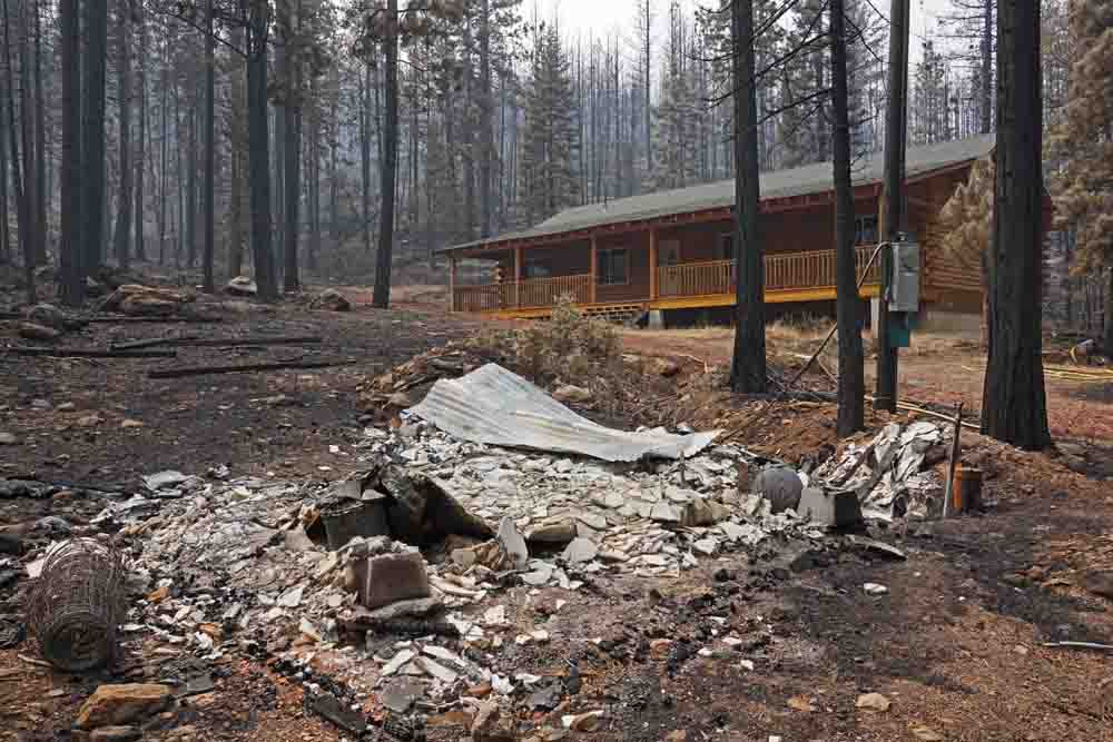 Eiler Fire, burned structure
