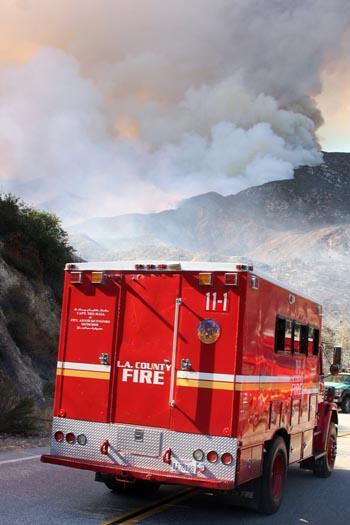 Tecolote Fire. Photo by Jeff Zimmerman.