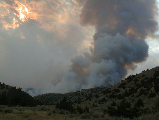 A fire near Craig, Colorado