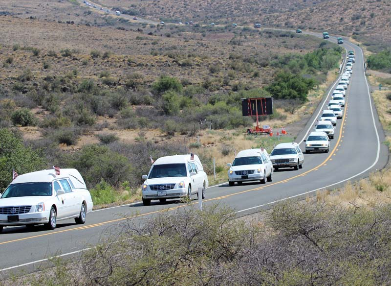 Yarnell Hill Fire Honor Escort