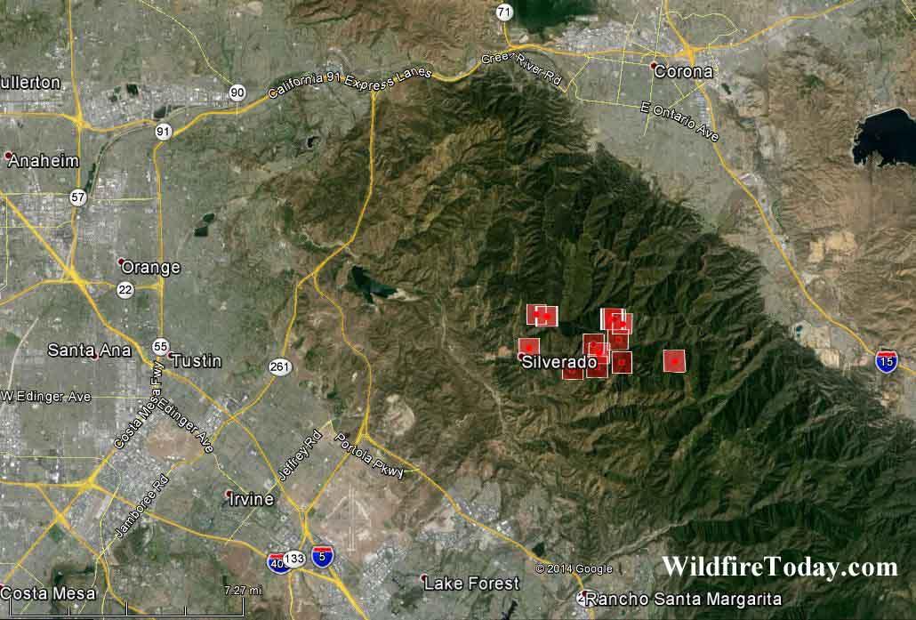 California Silverado Fire Wildfire Today