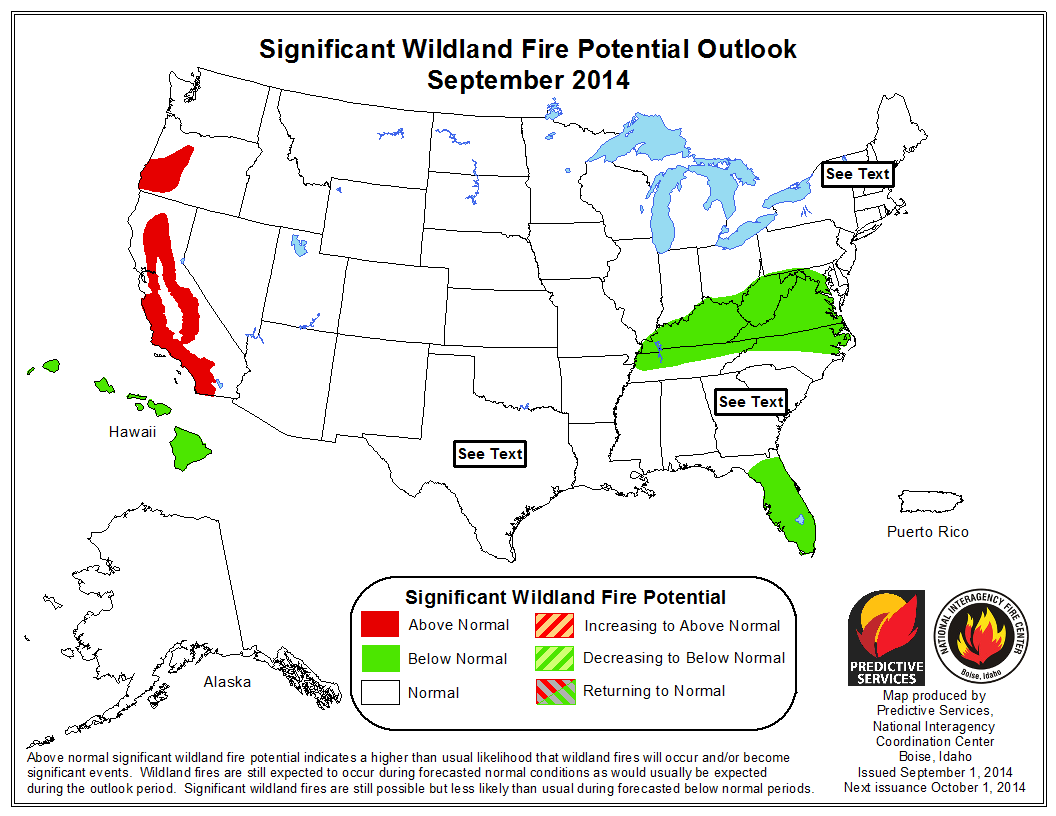 September  wildfire outlook