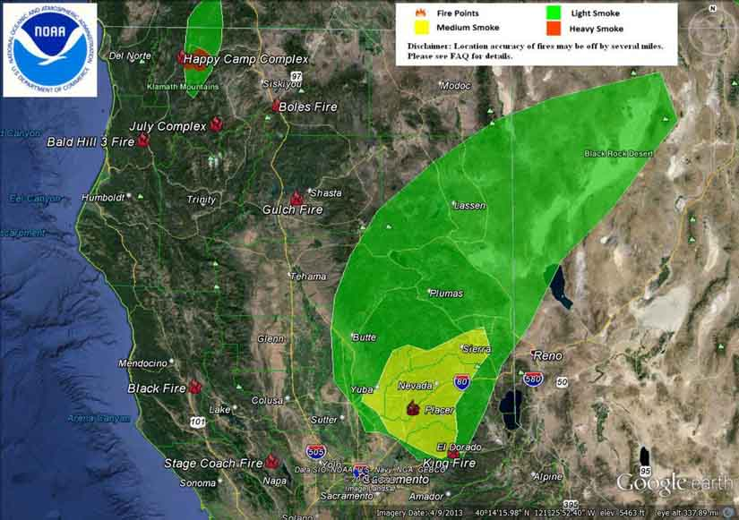 Smoke maps, September 15, 2014 - Wildfire Today on