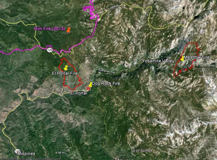map Dog Rock Fire