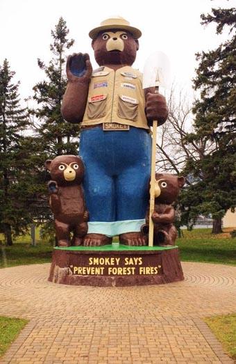 Smokey Bear statue