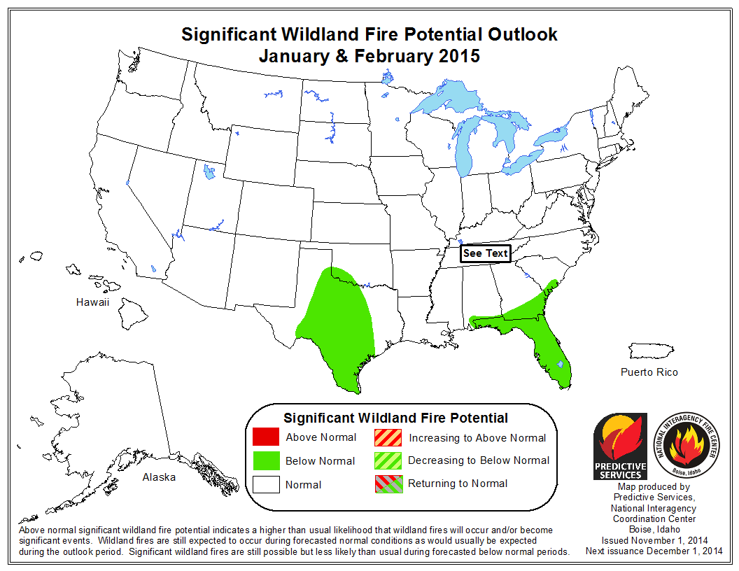 January February wildfire weather