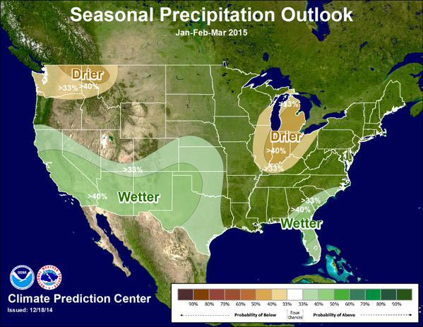 precipitation outlook through March