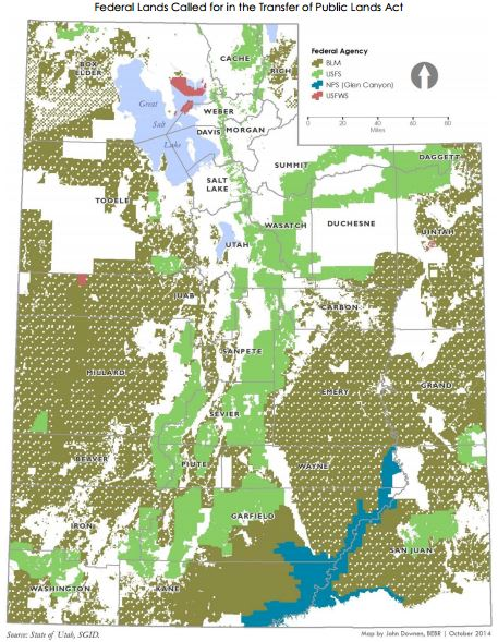 Federal lands in Utah transfer to state