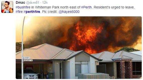Whiteman Park Fire, Perth, Australia