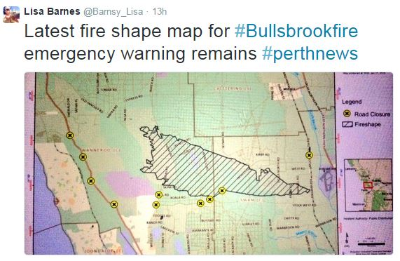 Bullsbrook fire map