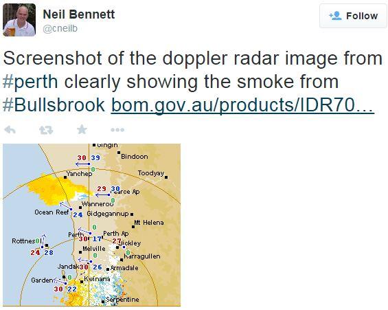 Bullsbrook fire radar