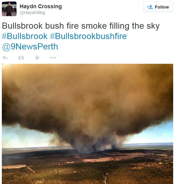 Bullsbrook fire smoke